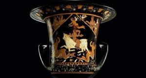 Vaso di Assteas in mostra nella Palazzina Gregoriana del Palazzo del Quirinale