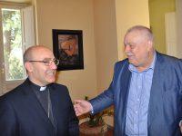 Alla Rocca dei Rettori il presidente Ricci accoglie Arcivescovo Accrocca.