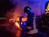 Airola. Data alle fiamme l'auto del vice sindaco Carmine Influenza.
