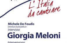 Domani a Benevento, Giorgia Meloni, leader di Fratelli d'Italia.