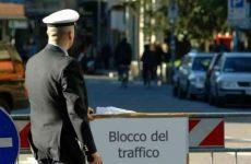 Benevento.Domenica, lunedì e martedì nuovo stop alla circolazione dei veicoli