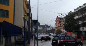 Avellino. Si apre una voragine in via Speranza: strada chiusa al traffico.