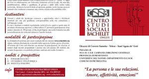 """Centro Studi Sociali Bachelet, """"Amore, affettività, emozioni"""" al centro del XIII corso di CittadinanzAttiva"""