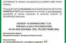 Telese Terme. Giovedi incontro con operatori funebri della Campania
