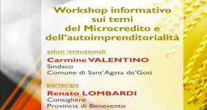 Workshop informativo sui temi del microcredito e dell'autoimprenditorialità.