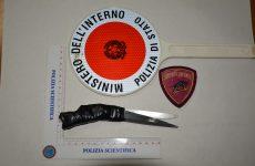 Trovato in possesso di un coltello artigianale, pregiudicato denunciato dalla Polizia