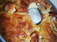 Il Casatiello, ricetta tipicamente napoletana, rivalutata con i grani antichi da Francesco Cioffi.