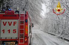 Alta Irpinia. La neve crea disagi alla circolazione.