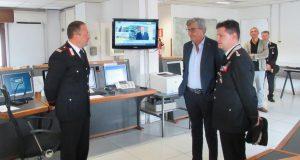Prefetto di Benevento visita centrale operativa dei Carabinieri.