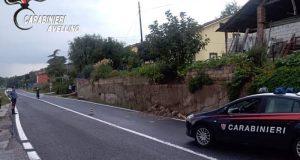 Grottaminarda. A causa della pioggia crolla un muro.