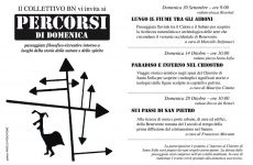 """Benevento. Domenica 14 ritornano i """"Percorsi di Domenica""""."""