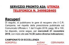 Rinviata Agropoli-Audax Cervinara in programma domani