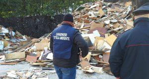 Gestione rifiuti speciali non pericolosi, denunciate due persone e sequestrate due aree.