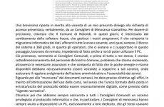 Rotondi. Nota del Segretario Comunale in risposta alle dichiarazioni del Gruppo Terramia.