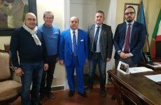 """Incontro tra """"Progetto Sannio"""", guidato da Vittorio Fucci, e il presidente della provincia Antonio Di Maria."""