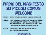 Manifesto dei Piccoli Comuni Welcome si arricchirà di un'altra firma