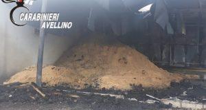 Incendio distrugge autocarri e attrezzature per lavorazione legno.