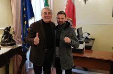 Il presidente Biancardi incontra il campione di pugilato, Carmine Tommasone.