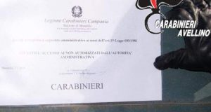 Abusivismo artigianale, carabinieri denunciano due persone.