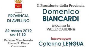 La Provincia incontra i territori, venerdì prossimo confronto a Cervinara