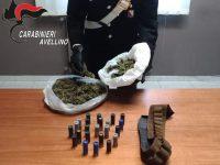 400 grammi. di marijuana sotto la mangiatoia dei muli.