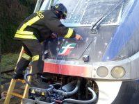 Principio di incendio treno Benevento-Salerno.
