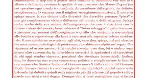 Sinistra Italiana risponde a don Salvatore Picca: l'italiano sarà una materia ostica, ma la matematica per lei lo è di più.
